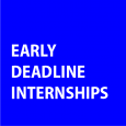 While many summer internships have deadlines in January through April, these two have deadlines sooner.